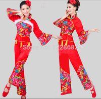 chinesische trachten frauen großhandel-Großhandels-Freies Verschiffen-neues Jahr-rote preiswerte Diskont-Frauen-Damen-altes chinesisches nationales Kostüm-traditionelle chinesische Tanz-Kostüme