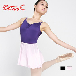 Wholesale Wear Ballet Women - Wholesale-Free shipping adult polyester ballet dance practice wear ballet skirts ballet dancing dress Dttrol (D004791)