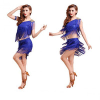 Wholesale Latin Dance Costume Women - Wholesale-Latin dance costume salsa tango rumba Cha cha Ballroom Dance Dress Mini Dress Summer dress belly belly ladies fashion