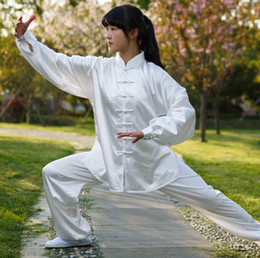 Wholesale Belly Dancing Clothes - Wholesale-Take South tai chi Tai chi suits spring and summer Tai chi suit female uniforms Martial arts clothing male
