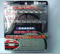 luzes led carro dia venda por atacado-Decoração Exterior do carro LED Day Light-Car correndo luz do dia-Auto led 6 LED DRL Daylight Branco 12 V DC Head Lamp