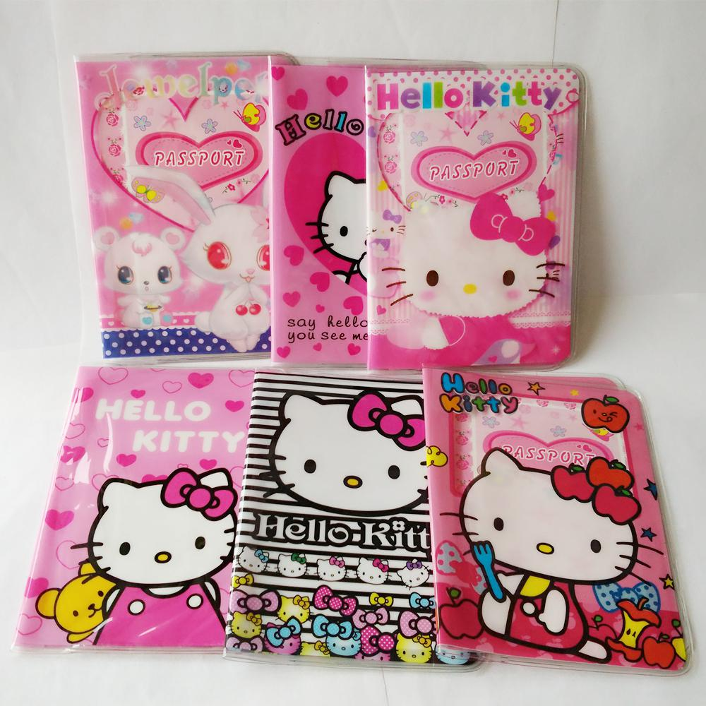 Cartoon hello kitty credit card holderpvc leather id card bag see larger image reheart Images