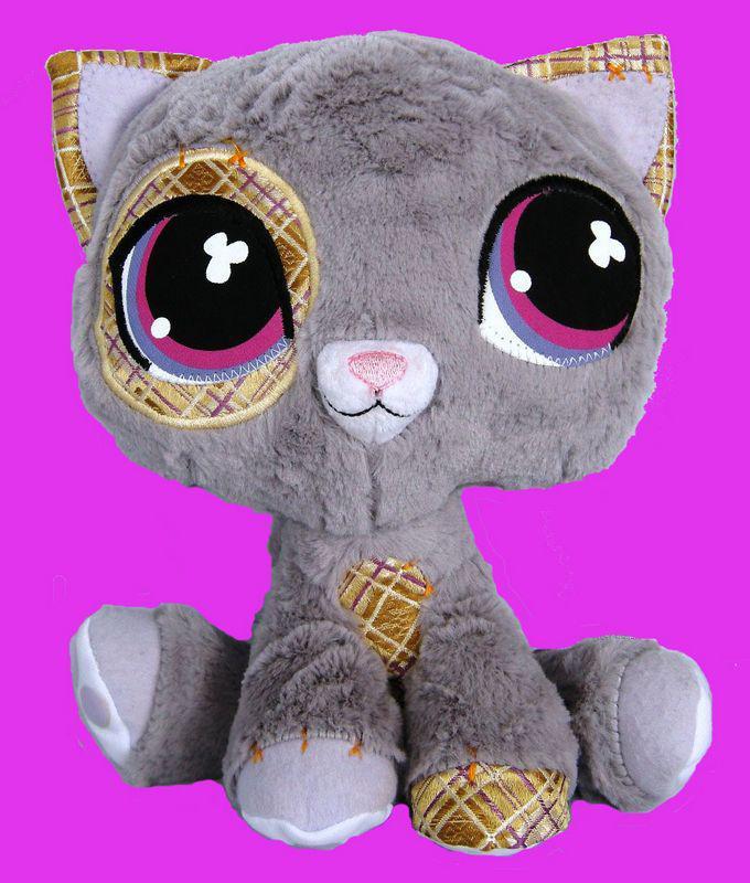 2019 Littlest Pet Shop Lps Petshop Pets Plush Stuffed Toy Grey Cat