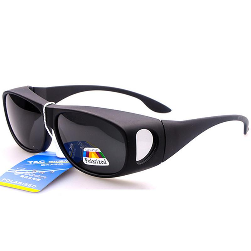 aa50335d85 ... Polarized Fit Over Glasses Sunglasses Wrap Around Prescription RX  Sports Sunglasses Womens Mens Clip On Sunglasses Prescription Sunglasses  Online Black ...