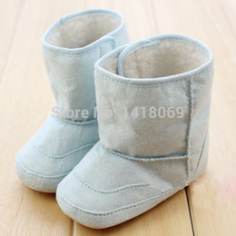 Wholesale Crochet Snow Boots - Super Warm Winter Baby Ankle Snow Boots Infant Shoes Pink Khaki Antiskid Keep Warm Baby Shoes First Walkers