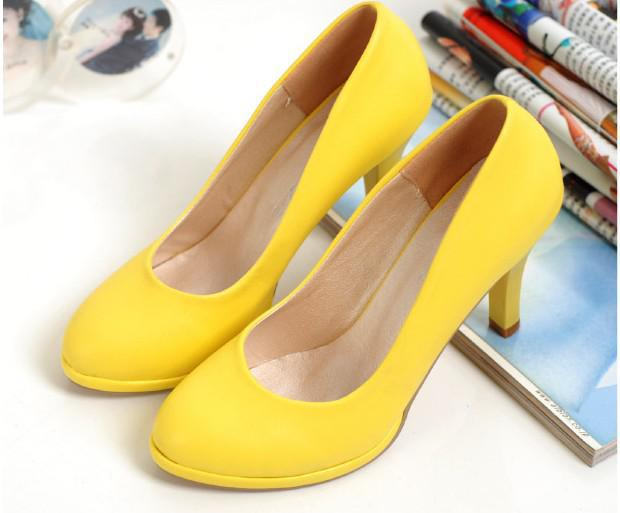 2011 Fashion Brand Yellow Sexy And Elegant Women's High Heels ...