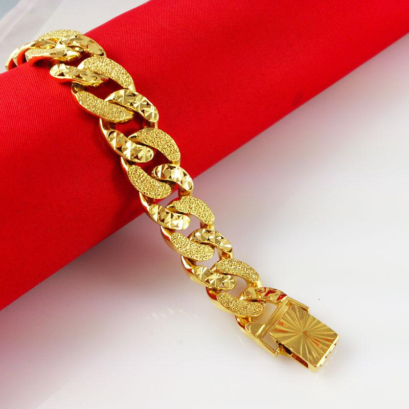 Best 2015 Fashion 24 K Gold Plated Bracelets Men Women