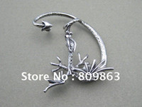 Wholesale Alchemy Jewelry - Dragon Ear Cuff Earring Alchemy Gothic Stud Wrap Dragon's Lure Ancient Silver Fly Fashion Jewelry AL619-1