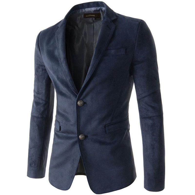 345b880fd269 2019 2015 New Fashion Stylish High Quality Mens Velvet Blazer Jacket Slim  Fit Solid Color Designer Cheap Suits For Men Blazers M XXL From Geraldi, ...