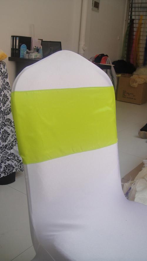 20cm W * 270cm L Lime Color Taffeta Banchetto Sedia Sash / Chair Tie Bow per uso matrimoniale