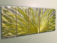 Wholesale Metal Art Oil Painting Abstract - METAL oil painting,abstract metal wall art sculpture painting Yellow The original nature of the meta