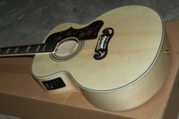 Wholesale New arrival Acoustic Electric Guitar With EQ pickups Natural color China Guitar Factory