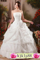 Wholesale Maternity Wedding Dresses Embroidered - Actual pictures! NEW Fashion Sexy Wedding Dresses Sleeveless bead embroiders Organza Satin