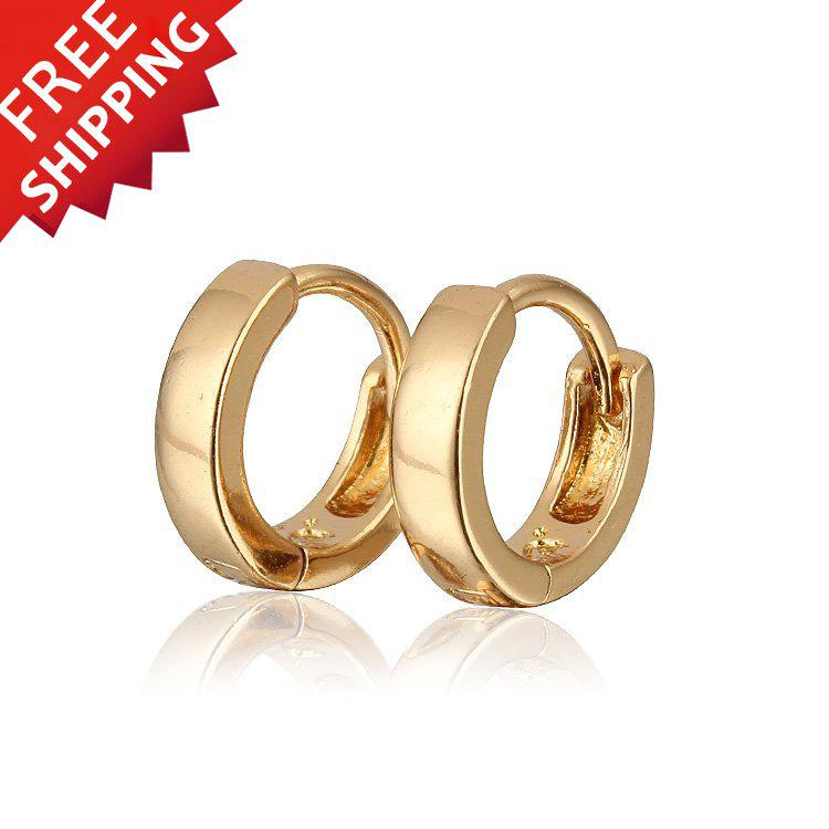 Best Wholesale Baby Earring 18k Gold Plated Hoop Earrings For Kids