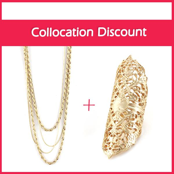 Jewelry Sets Fashion Design Long Gold Color Chain Necklace And