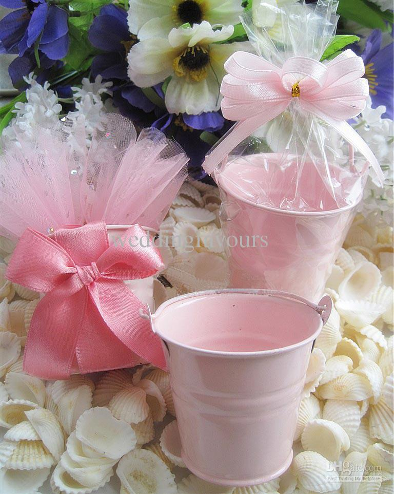 Livraison Gratuite / ! Rose bidons de seaux mini seaux mignons mini seau bonbons boîtes paquet sucré pour la décoration de fête
