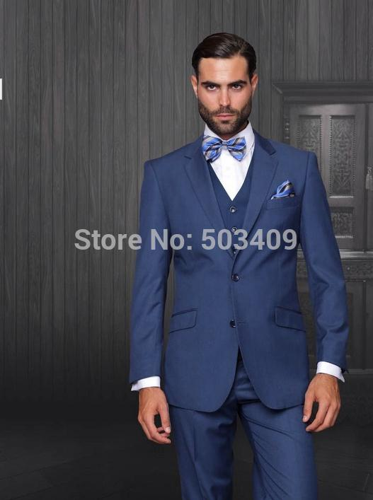 2017 Hot Sales Man Indigo Blue Suit Men'S Suits Three Piece Men ...