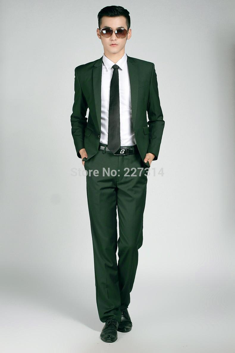 2018 2015 The New Dark Green Formal Business Suit Men\'S Suits ...