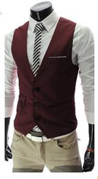 Wholesale Designer Mens Business Suits - Black Men Vest New 2015 Fashion Designer Men Suit Casual Slim Fit Vests Wedding Business Mens Dress Suits Chaleco Hombre AHY938