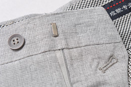 Wholesale Linen Fabric Trousers - Fashion New Arrive Summerr Men's Long Pants Business casual Thin Suit Pants 90%Linen fabric Man Male Dress Pants Trousers