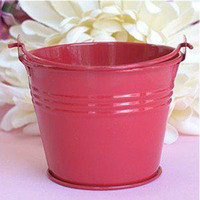 Wholesale Metal Favor Pail Candy - Free Shipping! 100pcs lot, Red Mini Tin Pails wedding favors,Mini bucket favors,mini pails,tin candy box favors, gift package