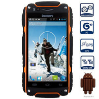 """Wholesale Discovery Cellphone - Discovery V8 Waterproof Smart mobile Phone 4.0"""" screen MTK6572 Dual Core 1.3GHZ 3G GPS Dual SIM Dustproof Shockproof cellPhone"""