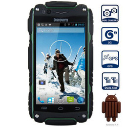 Wholesale Discovery Cellphone - Discovery V8 Waterproof Smartphone MTK6572 Dual Core Android4.2 Dustproof Shockproof 4inch Screen 3G WCDMA GPS WIFI CellPhone