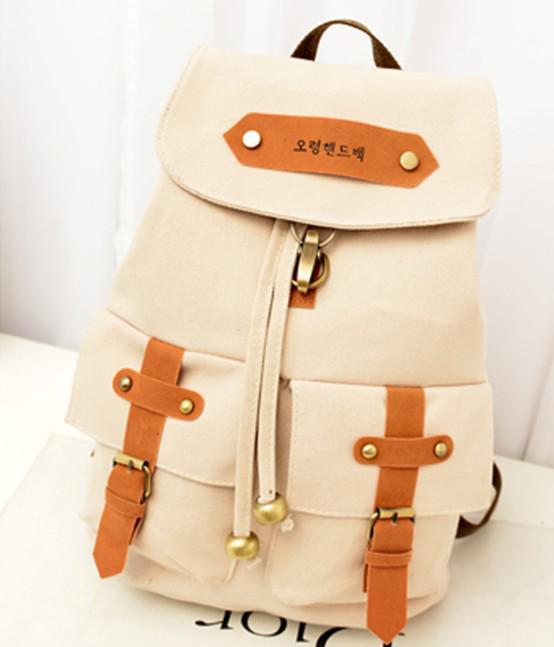 2015 Women Canvas Backpack Cute Backpacks High School for Girl ...