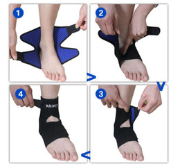 Wholesale Medical Supports - Wholesale-1 pair Professional Sports Super Strong Ankle Bandage Brace Ankle Support Medical protective Basketball Flanchard Ankle