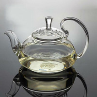 Wholesale Tea Balls For Sale - Glass tea pot 600ml,flowering high borosilicate glass teapot with a stainless steel ball inside for filtering,hot sale teapots