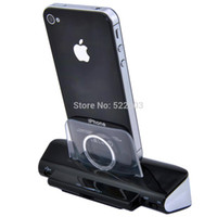 Wholesale Iphone Pin Charger Car - 30 Pin Music Audio Stereo Dock Speaker for iPhone 3GS 4 4S with USB Charger Cable - Stand Holder Cradle Station Charger Function