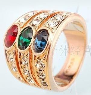 gorgeous jewelry womens 1.56ct Ruby New 18KT rose Gold Ring rings