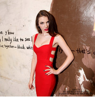 Wholesale Wholesale Clothing Women Evening - Wholesale-Hot Sales 2015 Summer New Sexy Women Bodycon Bandage Dress Vintage Party Evening Club Girl Clothes 850663