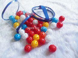 Wholesale Großhandels Freier Verschiffen Großverkauf Hartplastik Wiffle Ball für mmx200pcs mit buntem Innenpraxis Ball Pickleball Luftstrom Ball