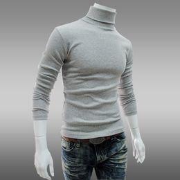 Wholesale Slim Jumper - Wholesale-M-XXL Plus size Autumn and winter Men Cashmere pullover slim turtle neck knited sweater mens Premium Stylish Slim Fit jumpers
