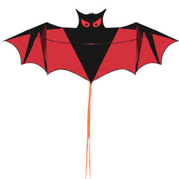 China Wholesale-Free Shipping Outdoor Sports High Quality Bat Kite 1.9M With Handle and Line Easy Control Flying 100% Original Factory cheap free wheel sport suppliers