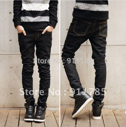 Wholesale Black Stretch Pants Small - Wholesale-freeshipping2015 new skinny jeans men casual Slim fit Micro Stretch jeans men small trousers pant for men,brand Blue jeans,28-34