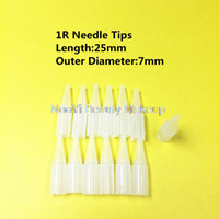 Wholesale Tattoo Traditional - Wholesale-500pcs 1R needle tips For Permanent Makeup Good Quality Traditional Tattoo Needle caps free shipping