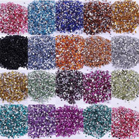 Wholesale Craft Beads Flatback Wholesale - Hot Crystal Flatback Acrylic Rhinestones Beads AB 3mm Non Hotfix in Bulk for Nail Art Craft 1NIZ