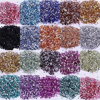 ingrosso arti artigianali-Perle di cristallo acrilico Flatback Flatback caldo A 3mm non hotfix in massa per Nail Art Craft 1NIZ