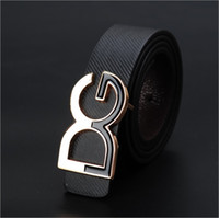 Wholesale Fancy Belts - Wholesale-[Jack Mart]Fancy Brand fashion mens leather belt women business casual belts gold buckle Free shipping Good quality 1 1 2""