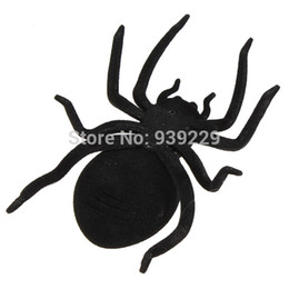Wholesale Solar Energy Birthday Gifts - Wholesale-2015 Gifts for Children Solar Sun Powered Energy Black Spider Kids Toy Insect Gadget Educational Birthday Kits