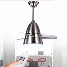 Wholesale Coloured Led Bulbs - Wholesale-colours modern fashion stainless ceiling fan ceiling fans with lights for kids room ceiling light, ceiling fan led lighting