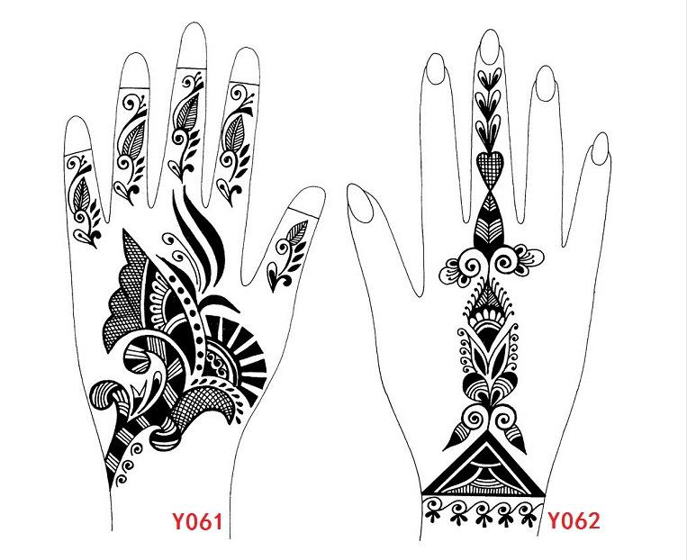 Wholesale Henna Mexendi Tattoo Template,Large Size Stencils For