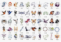 Wholesale Reuseable Airbrush Stencils - Wholesale-Temporary Airbrush Tattoo Stencils book Template - Booklet 9 - 100 designs - Reuseable - free shipping