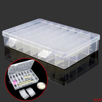 Wholesale-O1231PC Einstellbare Kunststoff 24 Compartment Storage Box Schmuck-Ohrring-Bin-Kasten-Behälter