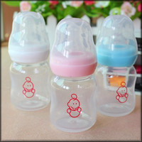 Wholesale Avent Baby Cup - Wholesale-Baby bottle Baby Kids Straw Cup Drinking Bottle Sippy Cups feeding nursing milk bottle 60ml mini cute thermo avent free shipping