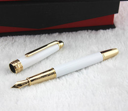 Wholesale Elegant Fountain Pen - Wholesale-Free shipping classic pen listed AK147 Elegant white gold clip fountain pen Elegant white gold clip fountain pen
