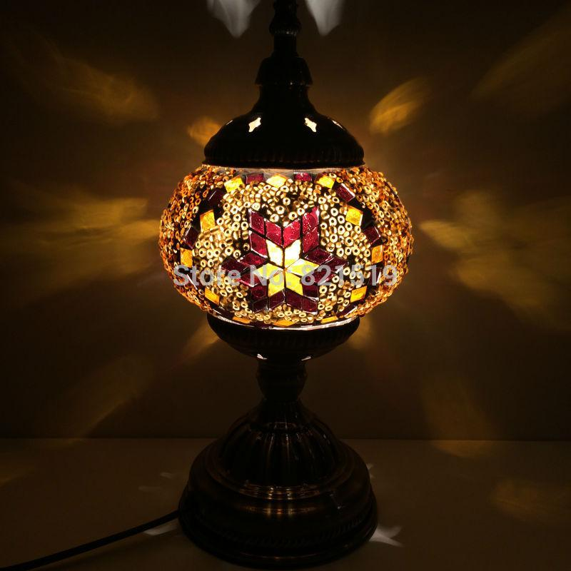 2018 Wholesale Made In China Unique Turkish Glass Handicraft Mosaic Table  Lamps Romantic Bed Lighting From Sebastiani, $69.24 | Dhgate.Com