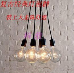 Wholesale Edison Chandeliers - Retro classic chandelier bulbs E27 lamp holder group Edison line diy lighting lamps lanterns accessories LED messenger wire